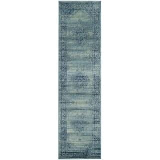 Safavieh Vintage Turquoise/ Multi Viscose Rug (2'2 x 14')
