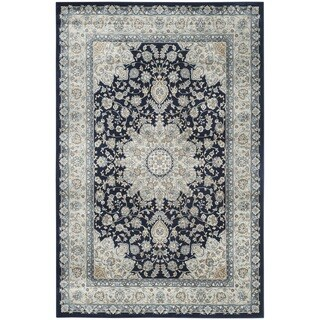Safavieh Persian Garden Navy/ Light Blue Viscose Rug (8' x 11')