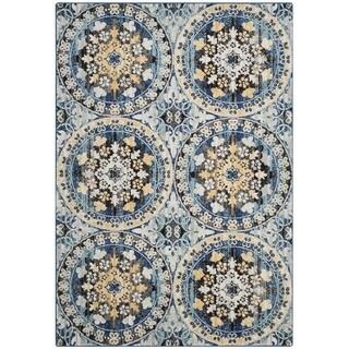 Safavieh Evoke Blue/ Gold Rug (4' x 6')