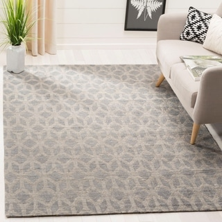 Safavieh Hand-Woven Cape Cod Grey/ Gold Jute Rug (4' x 6')