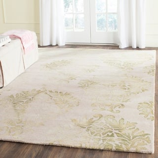 Safavieh Hand-Tufted Dip Dye Beige/ Green Wool Rug (8' x 10')