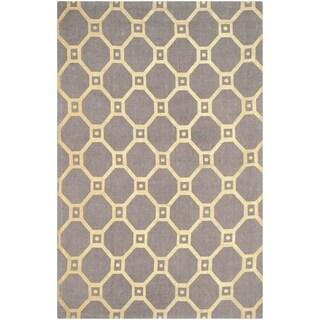 Safavieh Handmade Cedar Brook Grey/ Gold Jute Rug (7'3 x 9'3)