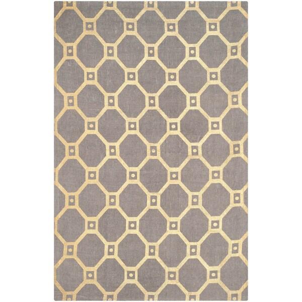 Safavieh Handmade Cedar Brook Grey/ Gold Jute Rug (7'3 x 9'3) 14977093