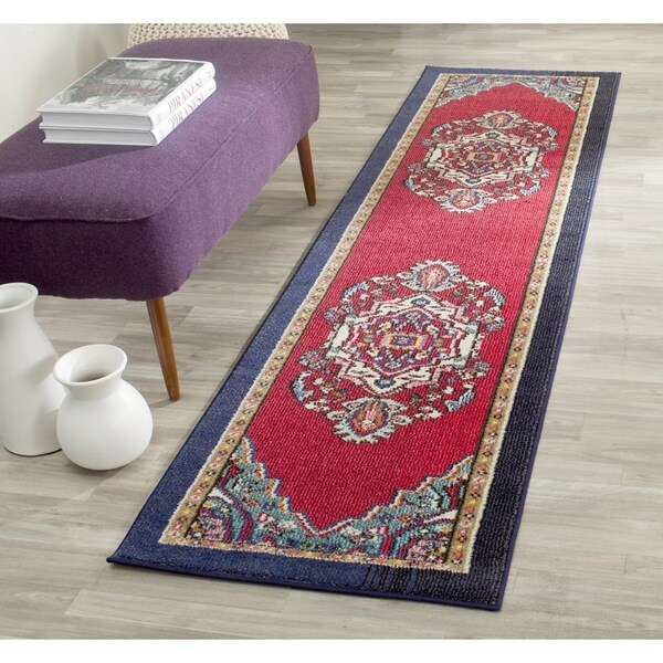 safavieh monaco red turquoise rug 2 39 2 x 6 39 overstock shopping great deals on safavieh. Black Bedroom Furniture Sets. Home Design Ideas
