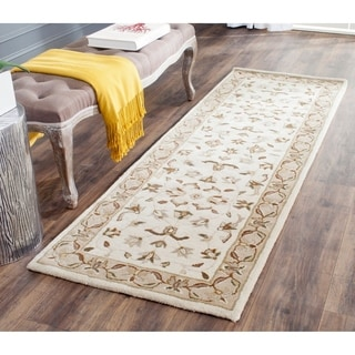Safavieh Hand-Tufted Stratford Ivory/ Beige N.Z. Wool Rug (2'3 x 7')