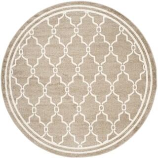 Safavieh Indoor/ Outdoor Amherst Wheat/ Beige Rug (5' Round)