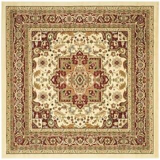 Safavieh Lyndhurst Ivory/ Red Rug (10' Square)