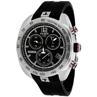 Tissot Men's T0764171705700 PRS 330 Round Black Rubber Strap Watch