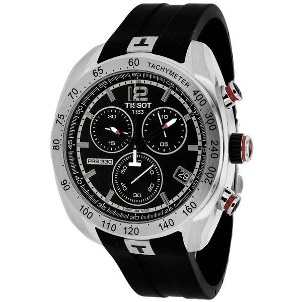 Tissot Men's T0764171705700 PRS 330 Round Black Rubber Strap Watch