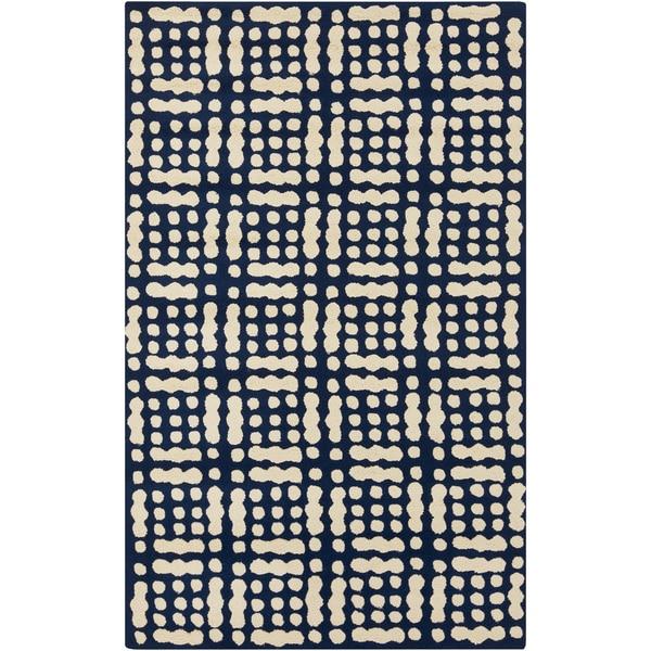 Hand-Hooked Masham Dots Rug (3'3 x 5