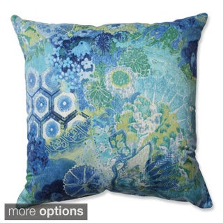 Pillow Perfect Windflower Sapphire Throw Pillow