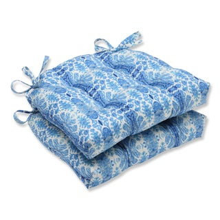 Pillow Perfect Rue Sapphire Reversible Chair Pad (Set of 2)