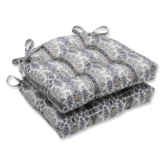 Pillow Perfect Rue Silver Cloud Reversible Chair Pad (Set of 2)