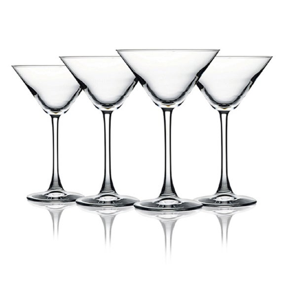 10-ounce Fully Colored Martini Glasses (Set of 4)