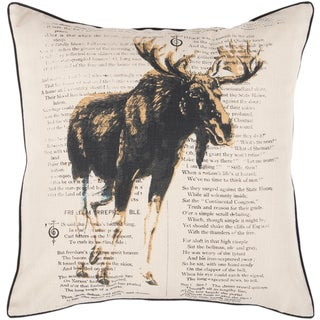 Decorative Hyde 18-inch Poly or Down Filled Throw Pillow
