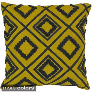 Decorative Halen 18-inch Poly or Down Filled Throw Pillow
