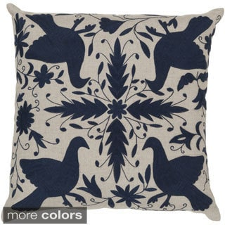 Decorative Calvert 18-inch Poly or Down Filled Throw Pillow