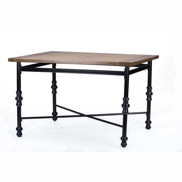 Broxburn Wood And Metal Dining Table 17098502