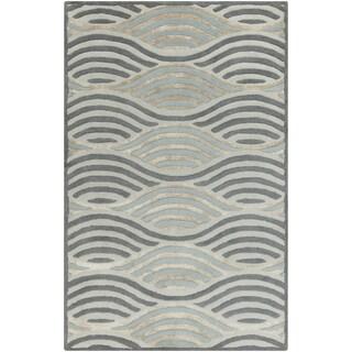 Hand-Tufted Addilyn Geometric Wool Rug (8' x 10')
