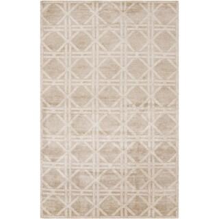 Hand-Knotted Mia Geometric Bamboo Silk Rug (8' x 11')