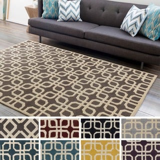 Hand-Tufted Brigg Crosshatched Wool Rug (8' x 11')