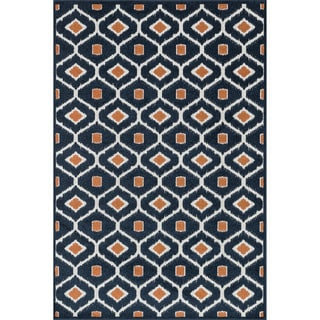 Indoor/ Outdoor Palm Trellis Rug (9'2 X 12'1)
