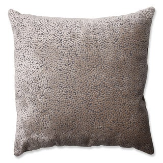 Pillow Perfect Tuscany Dots Flax Cut Velvet Throw Pillow