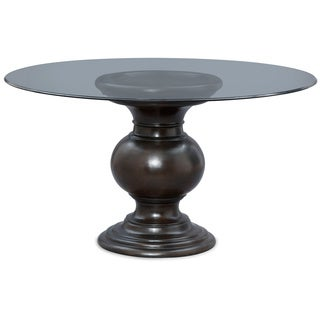 Art Van 54-inch Glass Table with Urn Base
