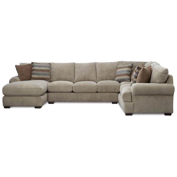 Art van jasper 3 piece sectional overstock shopping for Sectional sofa art van