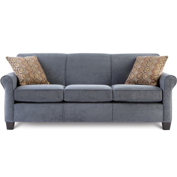 Art Van Spectrum Bluestone Queen Sleeper Sofa