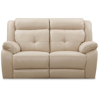 ART VAN Leather Reclining Loveseat