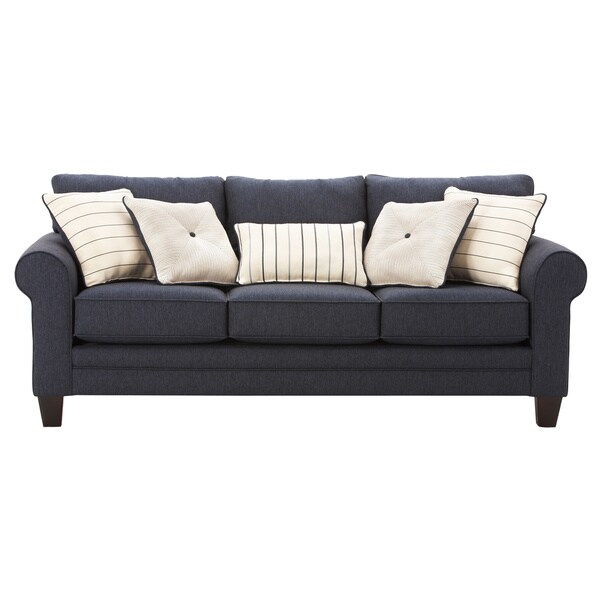 art van navy blue calypso queen sleeper sofa 17101914 shopping great deals. Black Bedroom Furniture Sets. Home Design Ideas