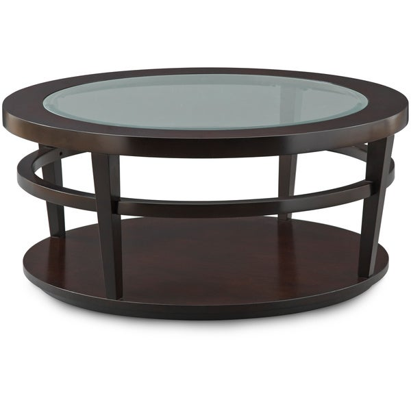 Art Van Urbana Round Cocktail Table 17102063 Overstock Shopping Great Deals On Coffee