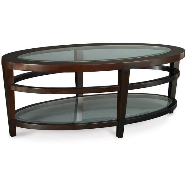 Art van urbana oval cocktail table overstock shopping for Art van coffee tables