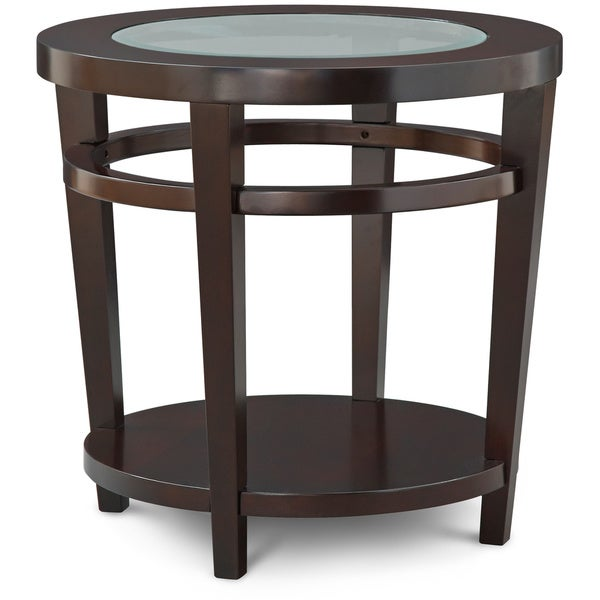 art van urbana round end table overstock shopping