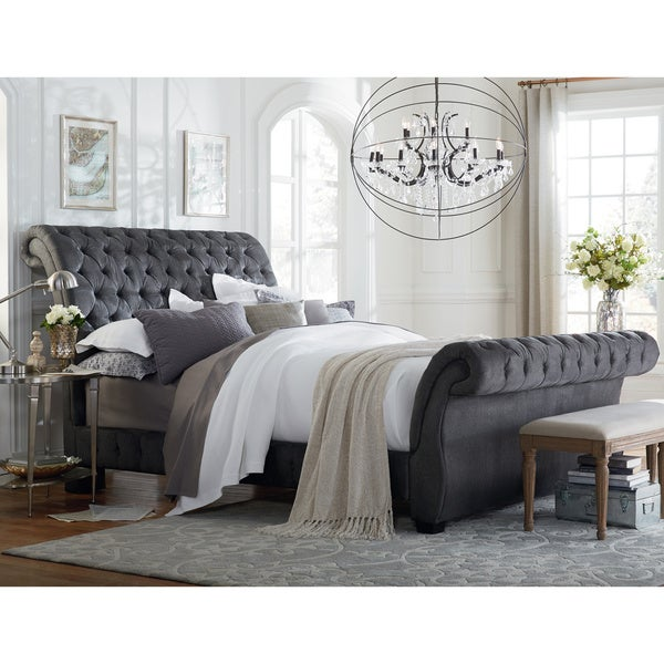 Art Vanay King Upholstered Bed Free Shipping Today Overstock