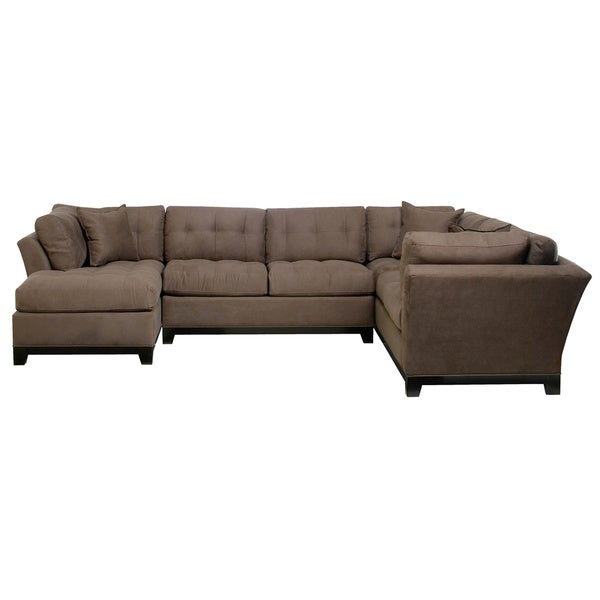 Art van 3 piece illusions sectional overstock shopping for Sectional sofa art van