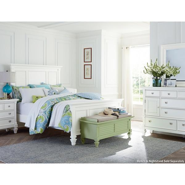 Art Van Breeze White 3 Piece Queen Bedroom Overstock