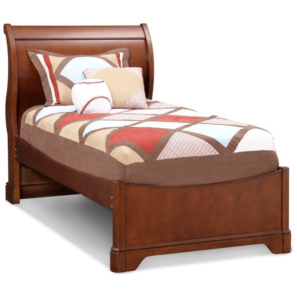Art Van Twin Sleigh Bed Cherry Overstock Shopping