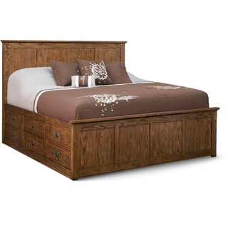 Art Van Oak Park King Storage Bed