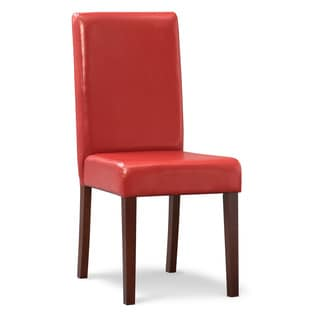 Red Upholstered Parson Chair