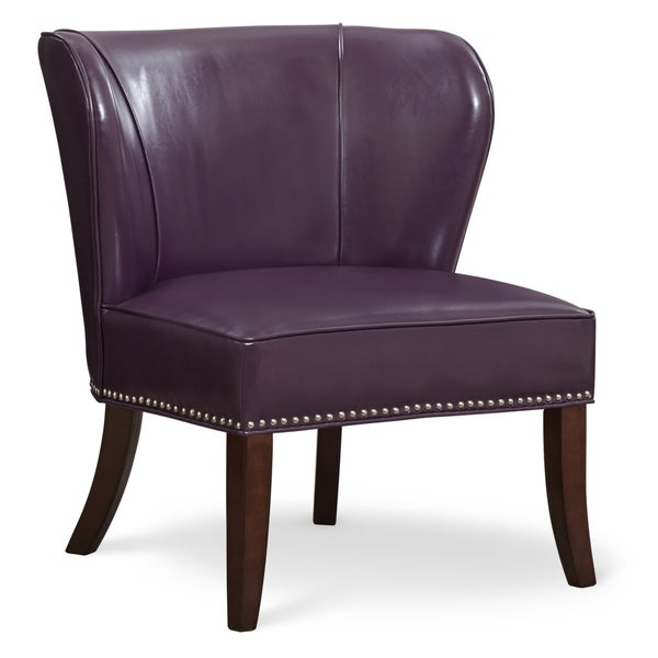Art Van Hilton Purple Accent Chair