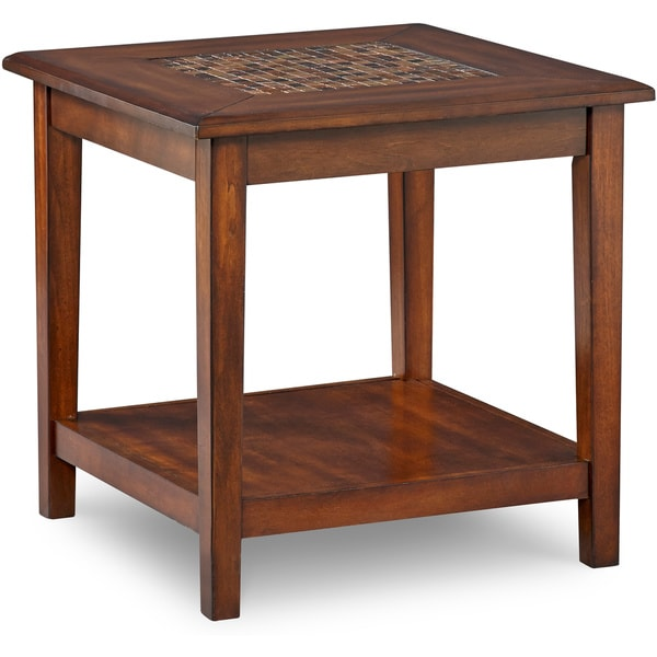 art van baroque square end table