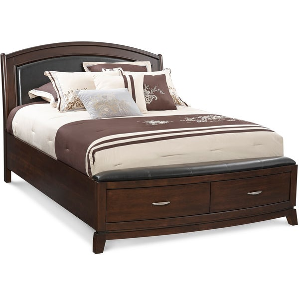 Art Van Avalon Queen Uph Storage Bed