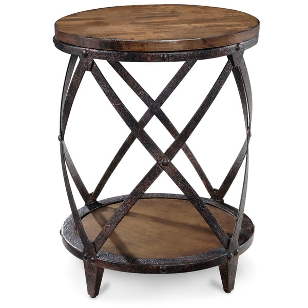 art van pinebrook round accent table overstock shopping