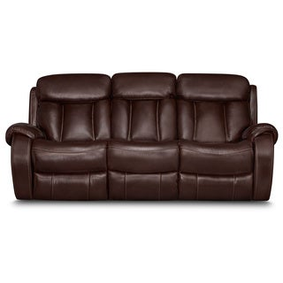 ART VAN Leather Power Reclining Sofa