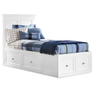 Art Van Twin Panel Bed With 2 Storage