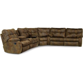 Art Van Sectional with Power Sofa and Loveseat