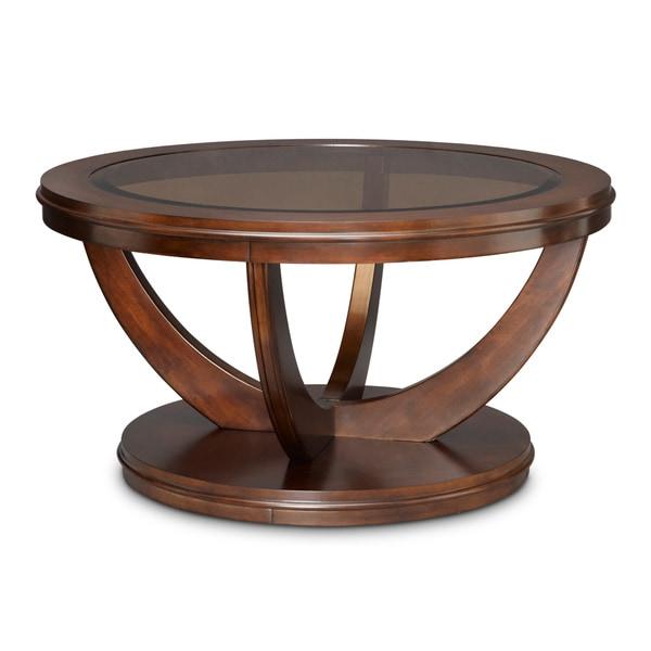 Art van la jolla round cocktail table 17103297 for Art van coffee tables