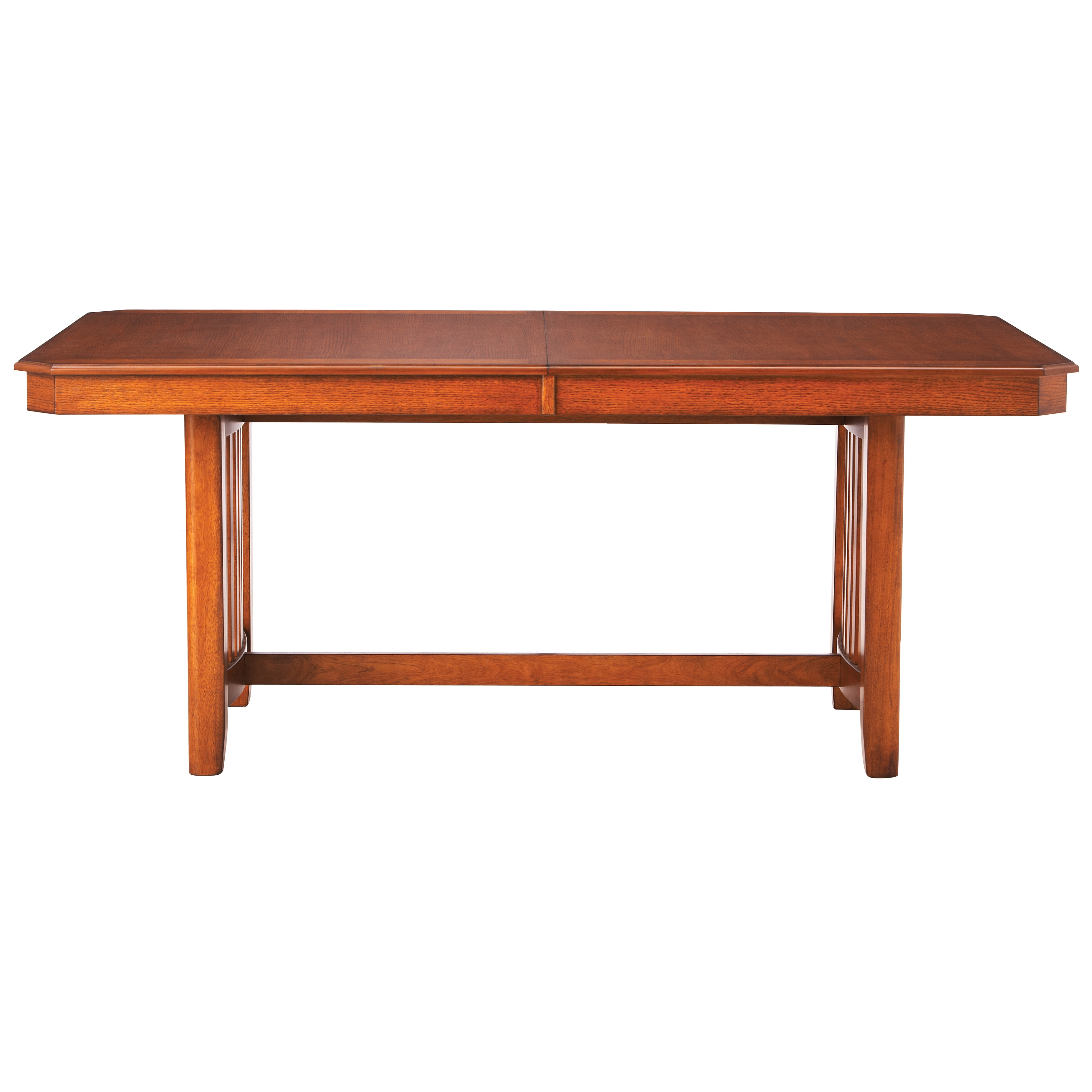 art van stockton mission trestle table overstock